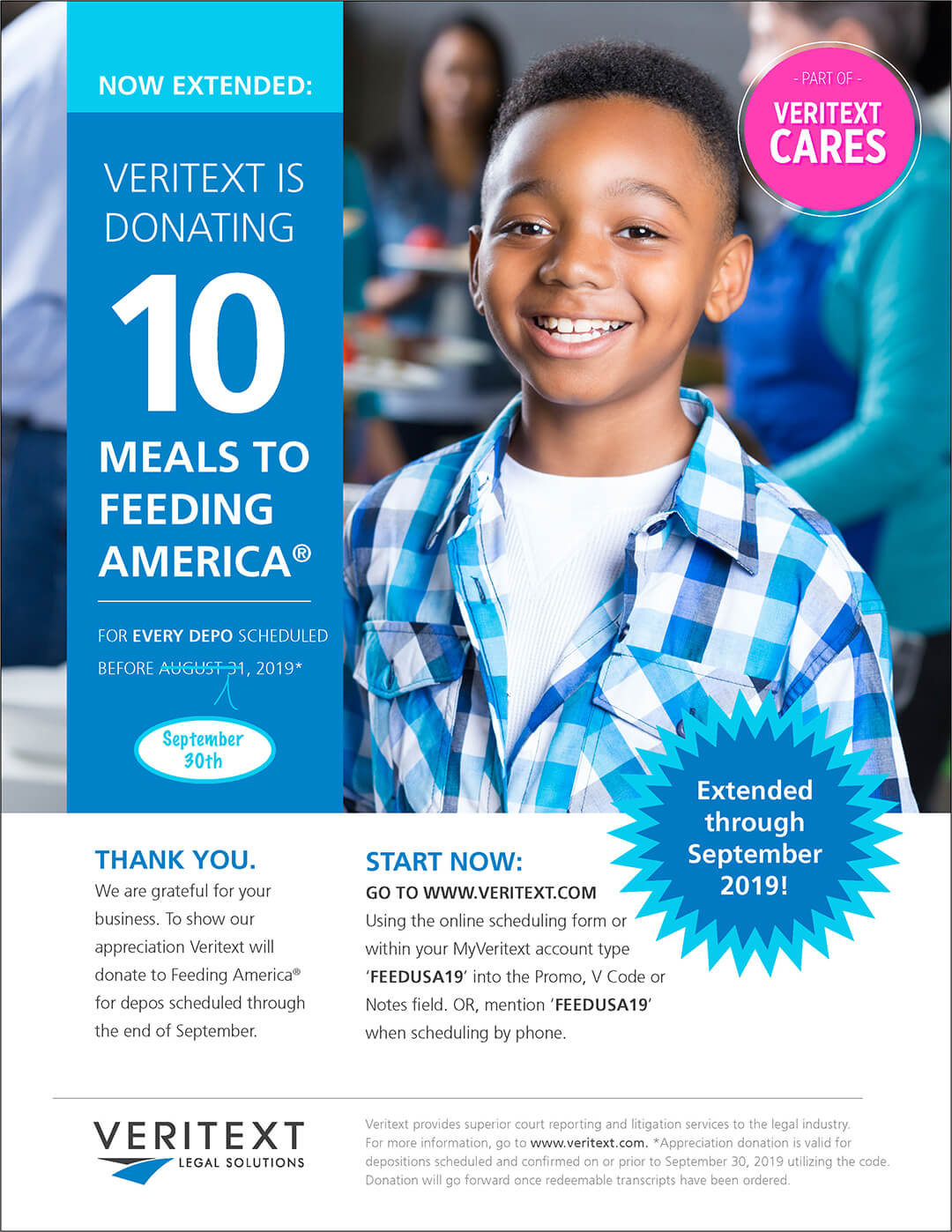 Feeding America 2019 Veritext Fundraiser