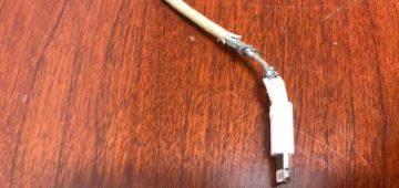 Frayed cord