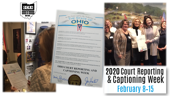Ohio Court Reporting and Captioning Week 2020 images